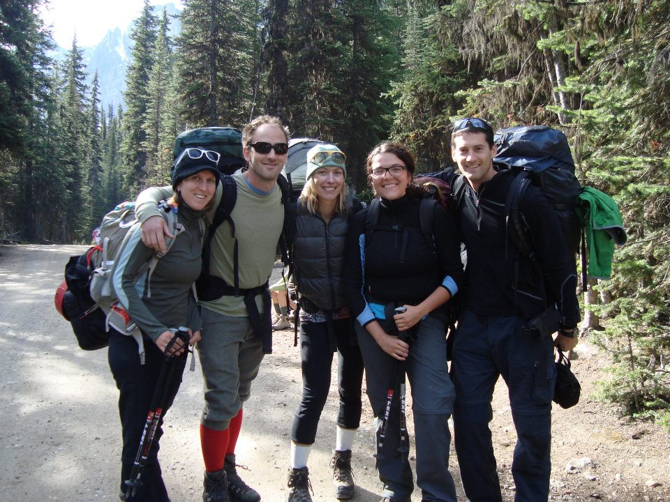 Caitlin, Manny, Jody, Carolina, and Alex at the start of the hike.