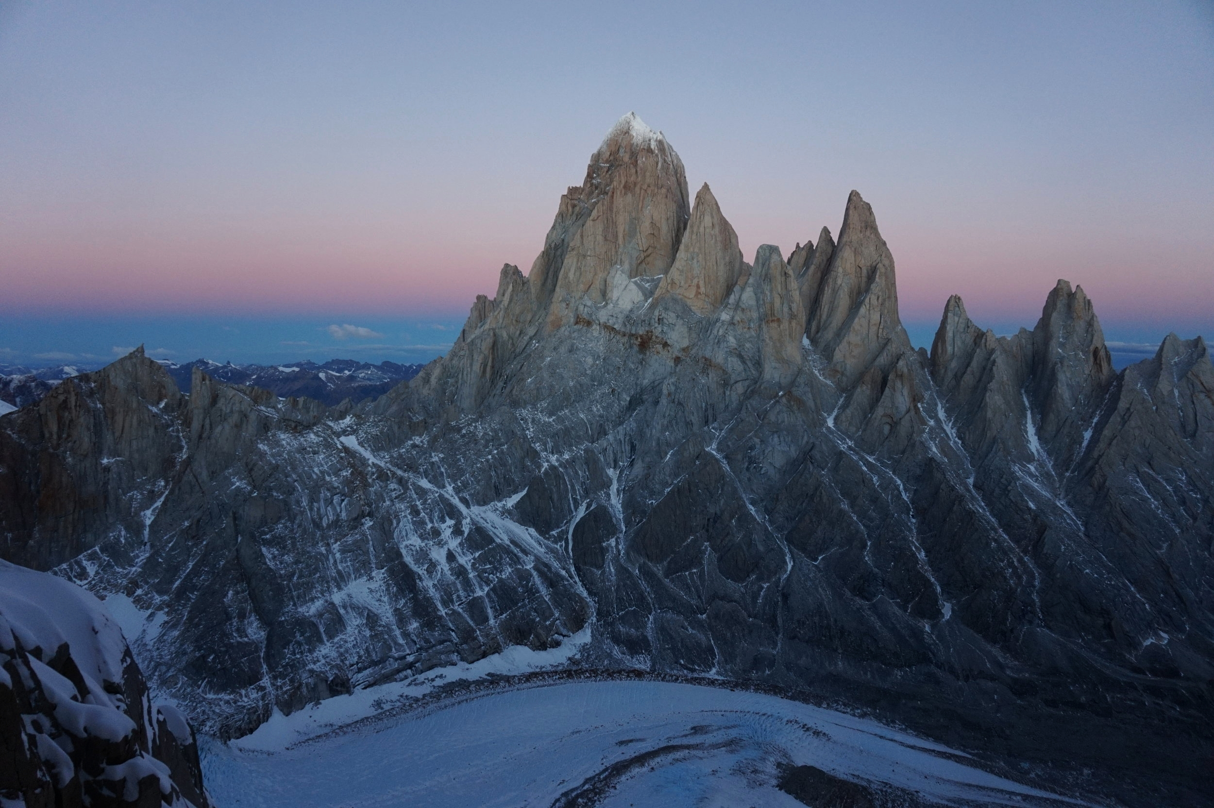 Fitz Roy from Standhart Col. Photo by Hannah Preston.
