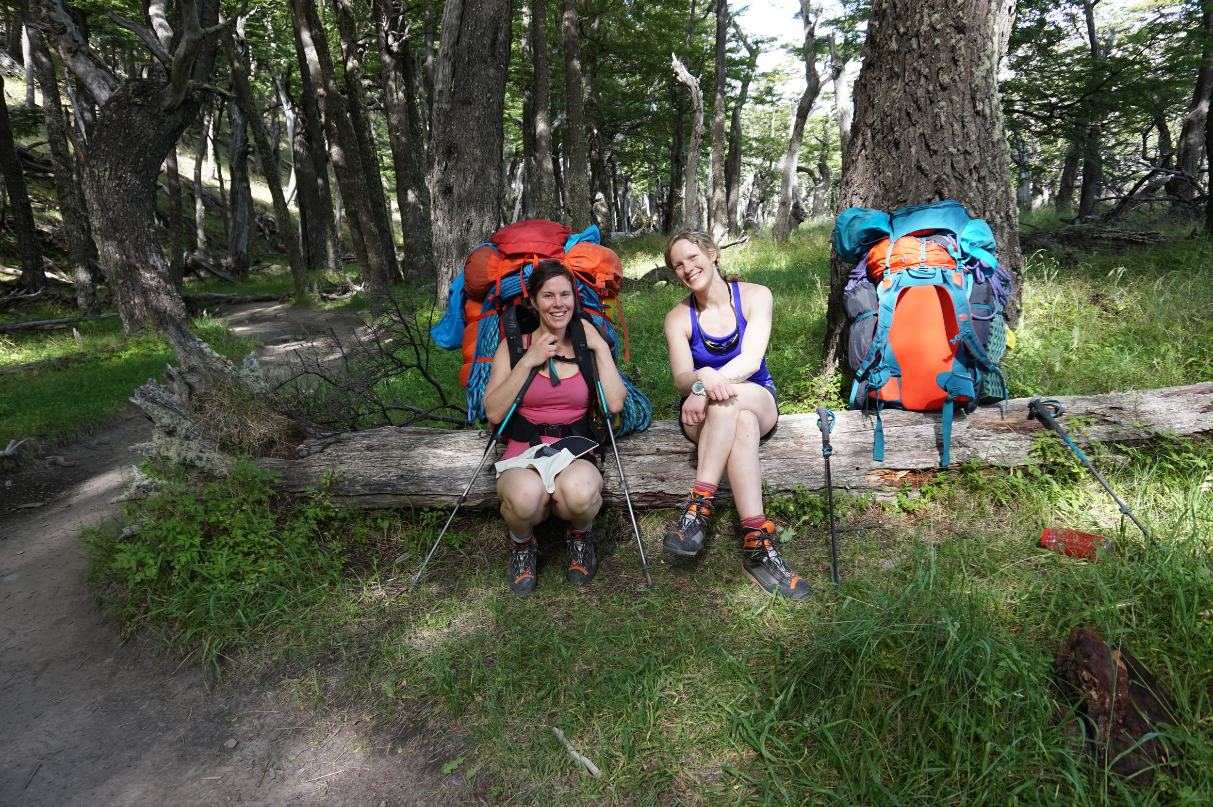 All smiles and ready for anything on the hike in to Niponino.