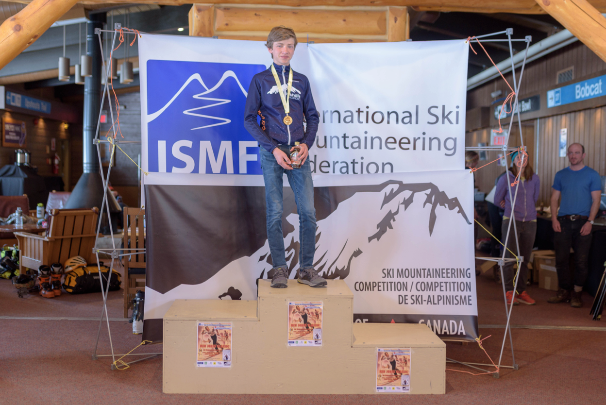 Findlay Eyre of Calgary, winner in the Cadet Male category.Photo by Casey Marshall.