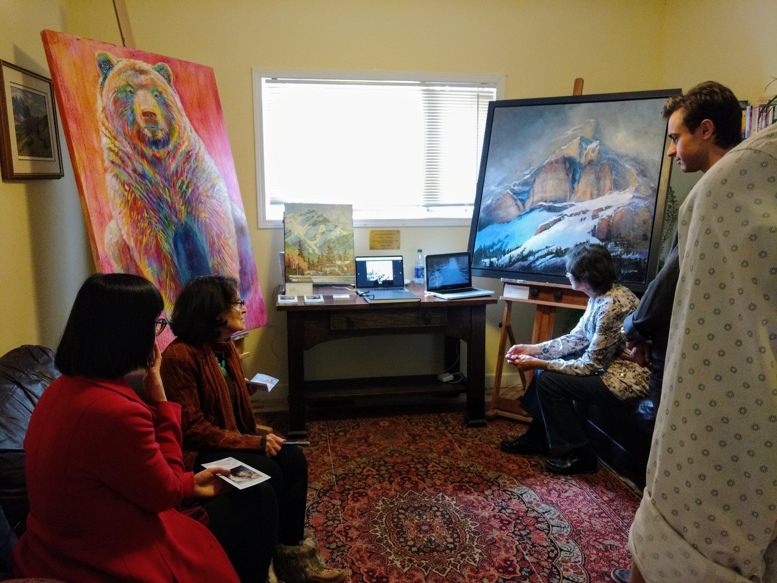 Mountain Galleries exhibiting their artists' work.