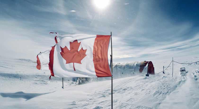 Canada, a proud part of the 2017/18 Antarctic deep drilling program in Wilhelm II Land. Photo: Alison Criscitiello.