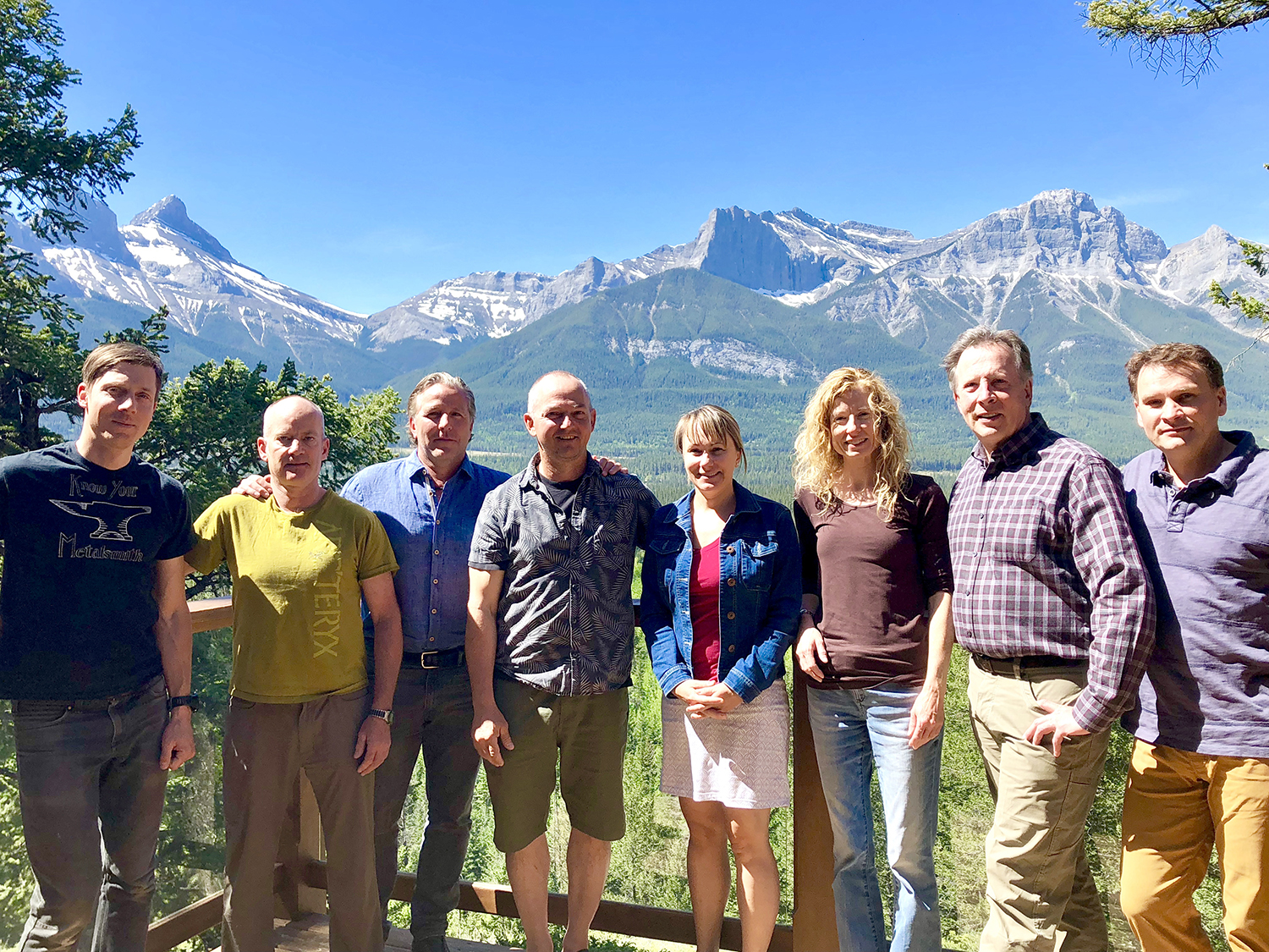 Left to right: Toby Harper-Merrett (ACC VP Sections), Frank Spears (ACC VP Activities), Neil Bosch (ACC President), Mike Wild (Great Plains Section President), Isabell Daigneault (ACC Secretary) Lael Parrott (ACC VP Environment), David Foster (ACC VP Services), Keith Sanford (ACC Treasurer)