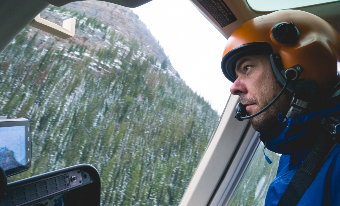 The pilot: Responsible for transporting the crew and materials, in and out.