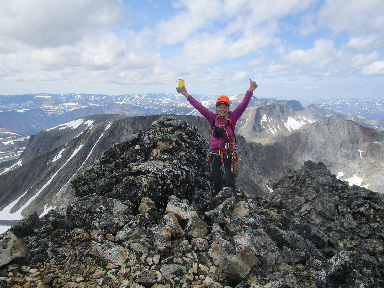 On the summit - register in hand! Photo:Paul Denys