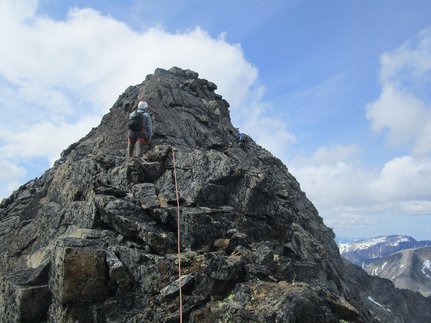 Approaching the summit of Mount Caubvick with Mike on lead. Photo:Deb Clouthier