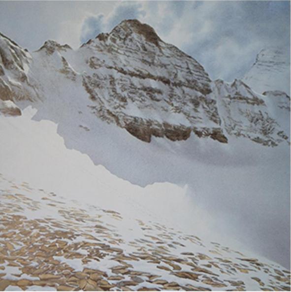 """Lunch - Divide Creek"" Watercolour limited edition print by Elizabeth Wiltzen. Retail: $350. Bidding starts at $175."