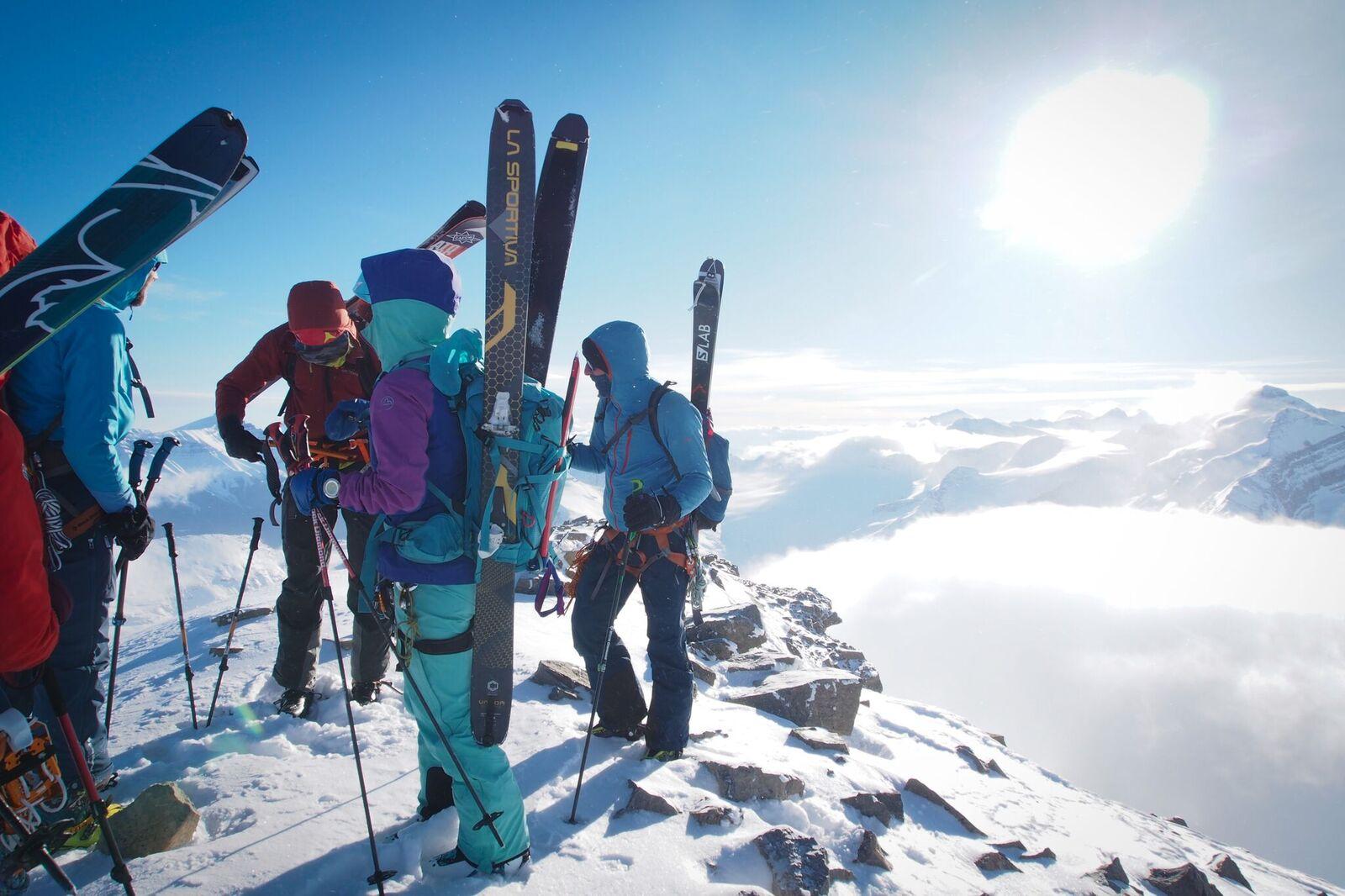 Team Members on the ridge of Olive Peak. Photo: Matt Reid