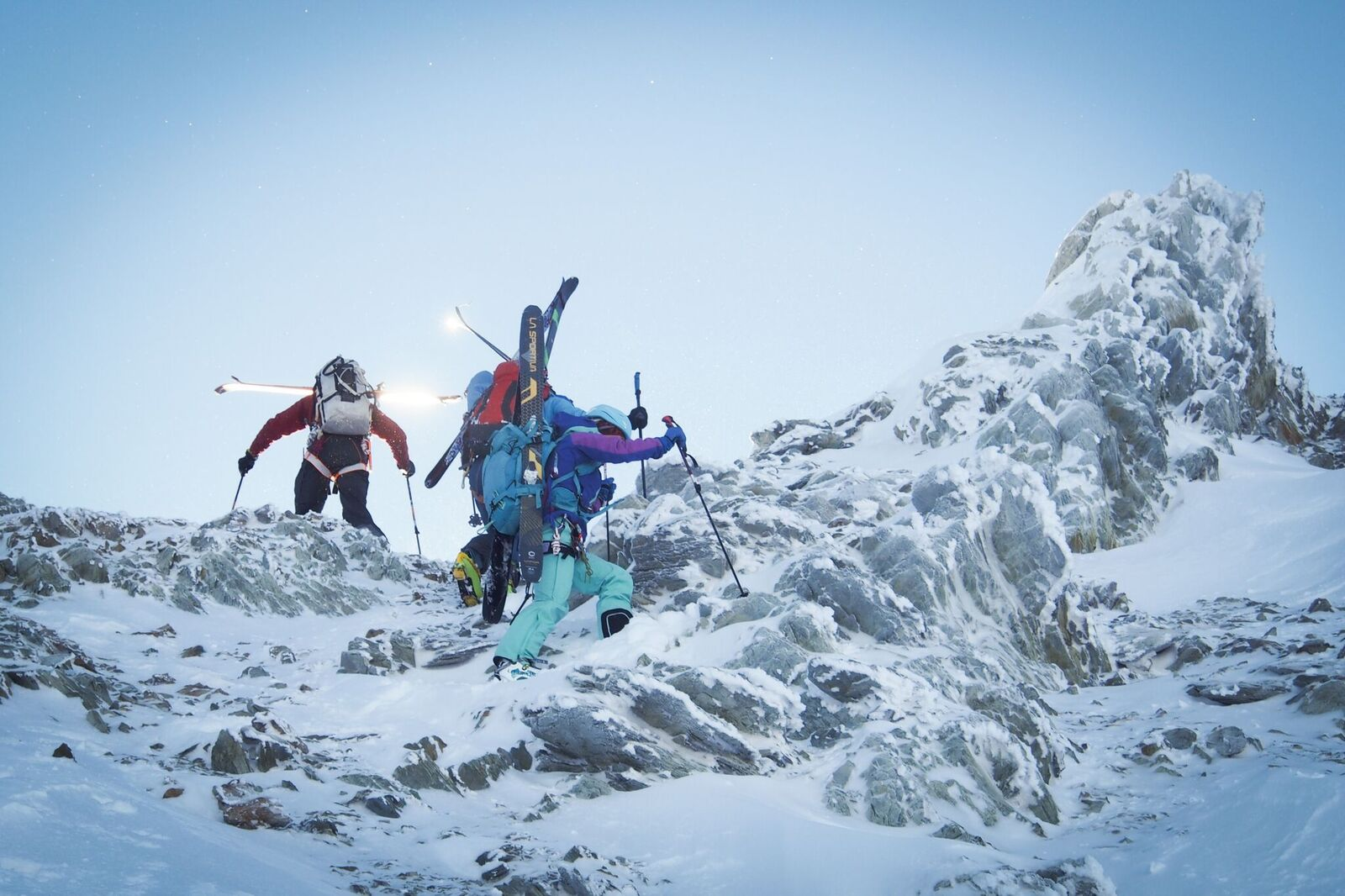 Working towards the summit of Olive Peak. Photo: Matt Reid