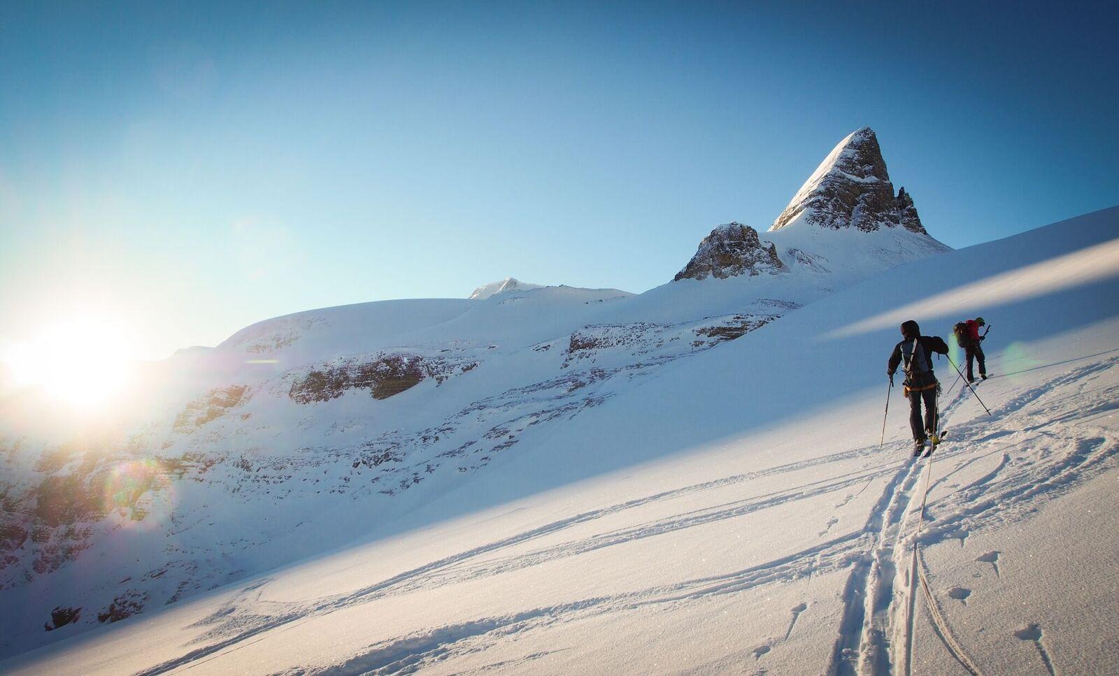 Saint Nicholas Peak as the sun rises. Photo: Matt Reid