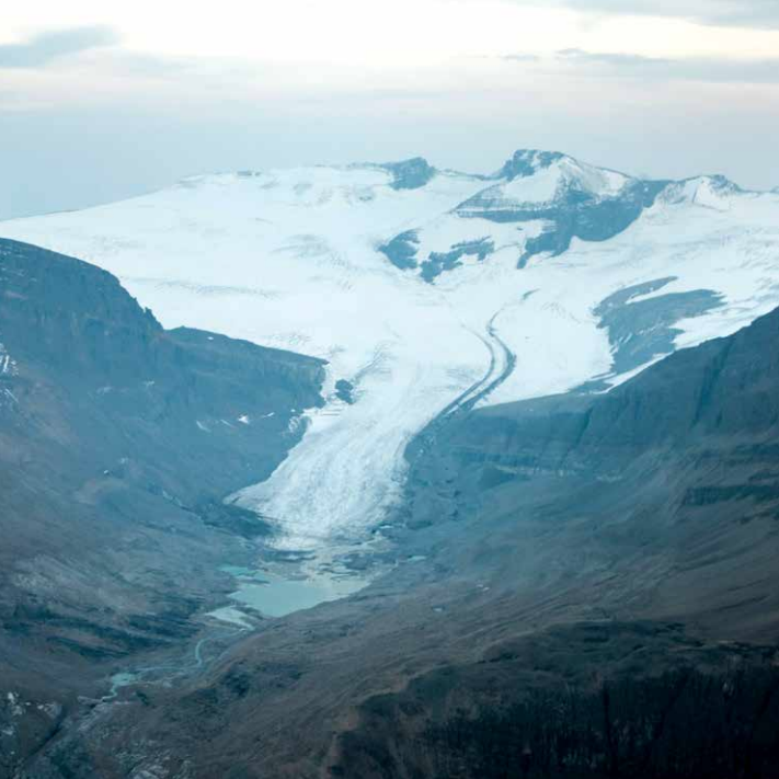 As is true for the vast majority of glaciers worldwide, the Peyto Glacier in Banff National Park has been retreating rapidly, especially since the last half of the 20th century, and has reportedly lost 70% of its mass since it was first measured. Photo: Ian Holmes