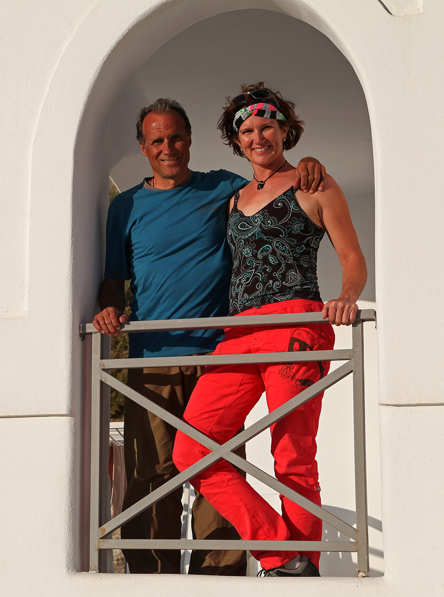 Ralf and Nancy on a happy sport climbing holiday.