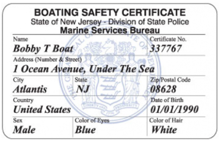 NJ Boating Safety Certificate