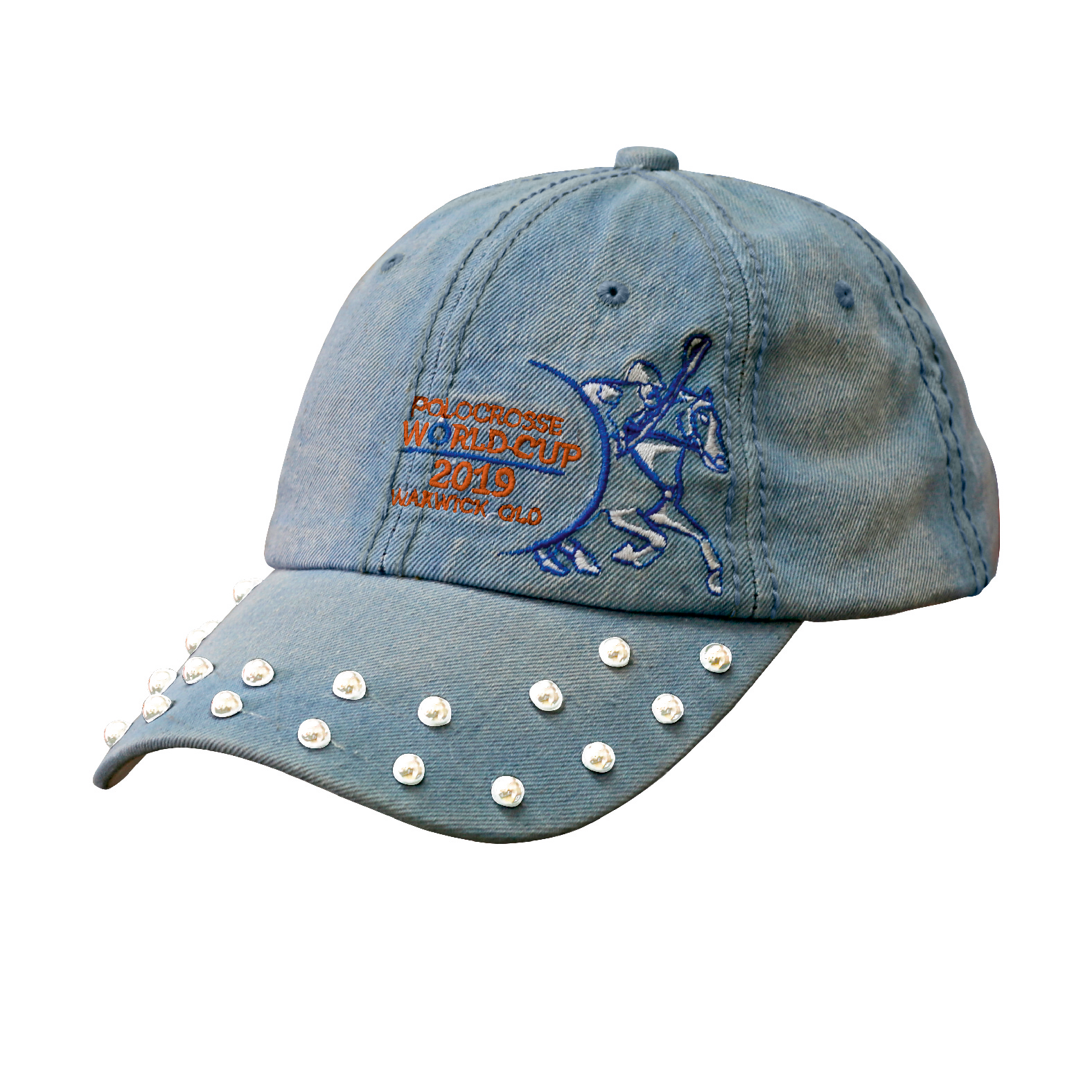 LADIES DENIM BASEBALL CAP WITH PEARLS ON PEAK -1.png