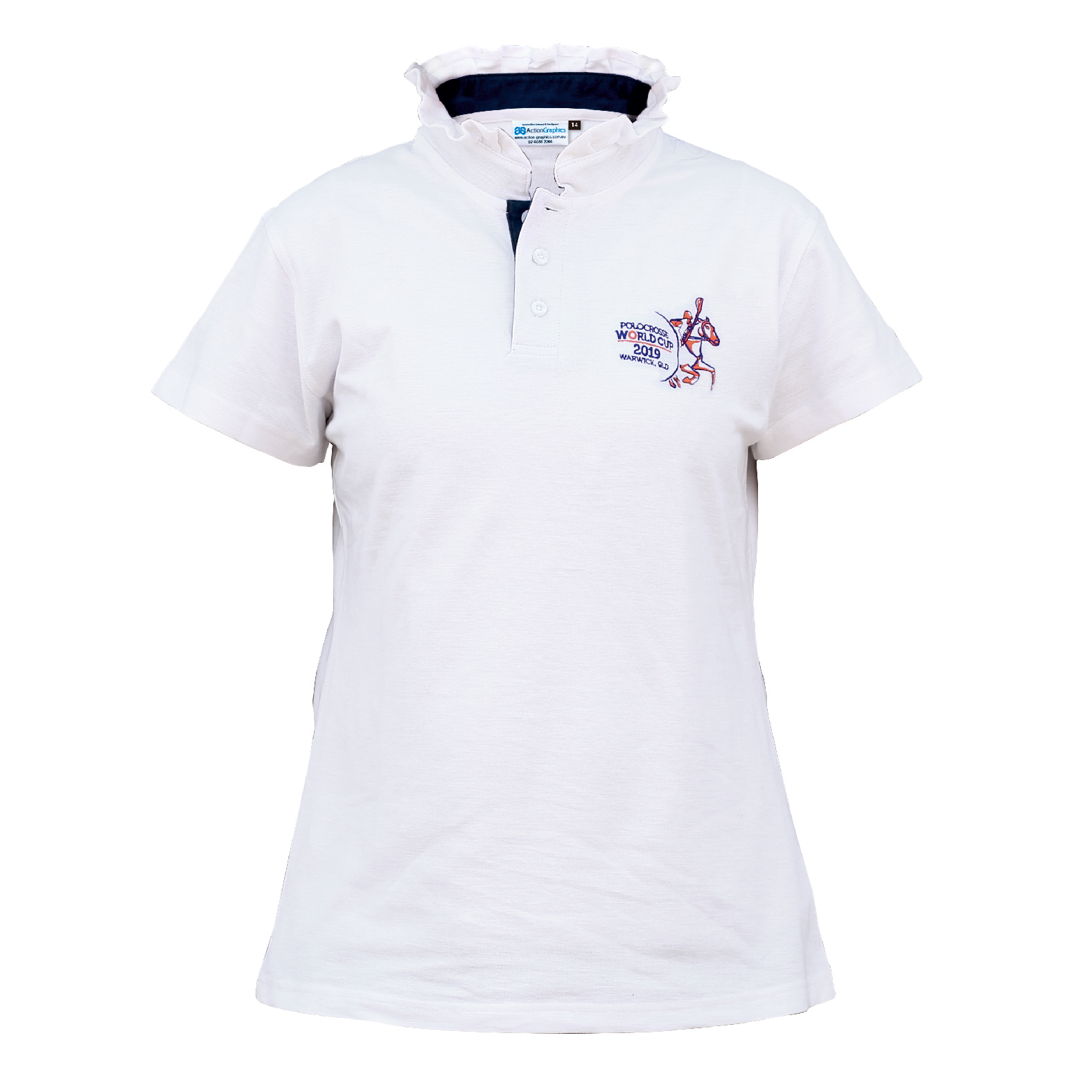 LADIES FRILL NECKED COLLAR POLOS - WHITE-1.png