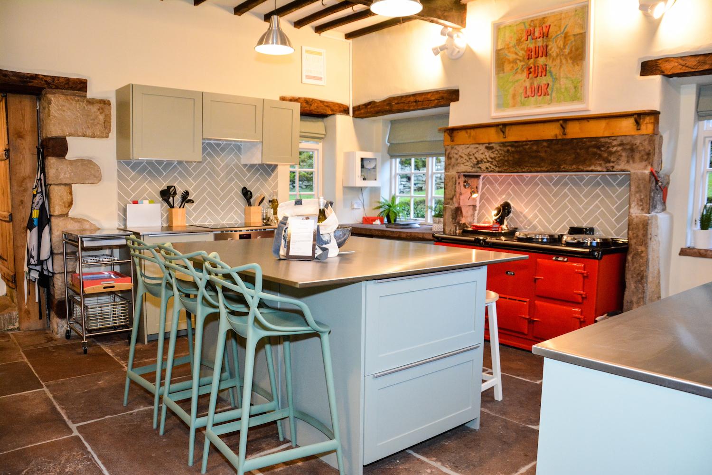 Large family kitchen at Fellgate Farm