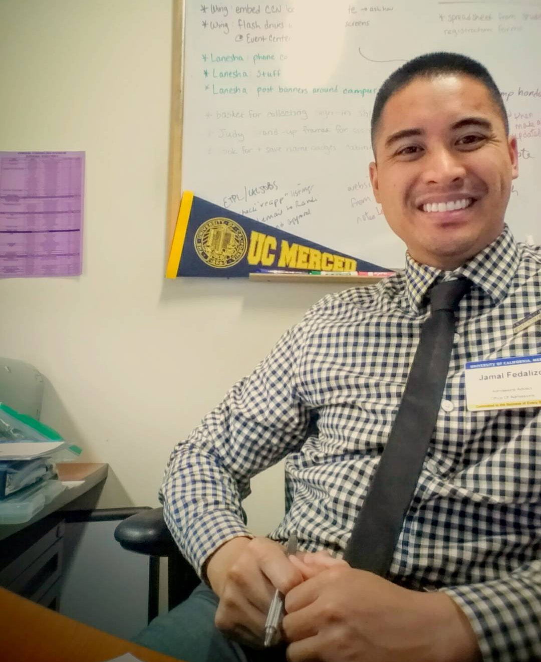 Jamal Fedalizo | Communications & Outreach Director  I believe in being ready for an ever changing world. Being a pioneer of one of UC Merced's first graduating classes, new worlds aren't foreign to me at all;they're my comfort zone. My major studies in the school of Social Sciences, Humanities and Arts led to a BA in Psychology. Additionally, my minor studies in Art were disciplined through my greatest pastimes: City Planning, Museum Curation, Photography and Sculpture. The backbone of my education kept me afloat in post grad experiences. I have elevated myself to management roles in all of my professions on the spectrum for the past 15 years;I'm your Renaissance Man! You're never going to learn until you try. Try. Fail. Try Again. Succeed. Teach. Learning is one of the fairest things in society.