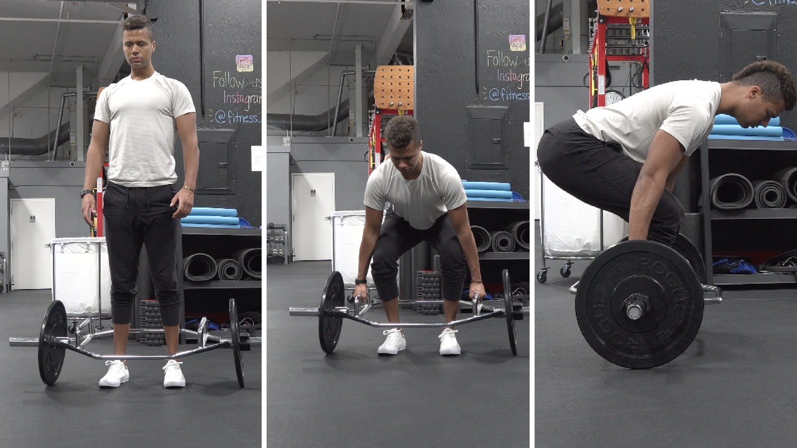 how to trap bar deadlift set up