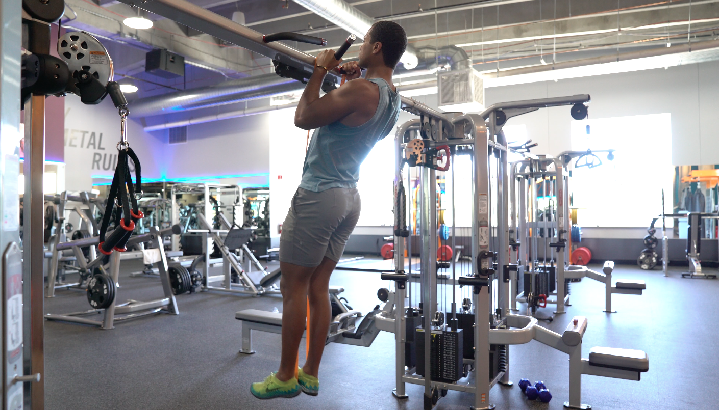 how to do a pull up band pull up