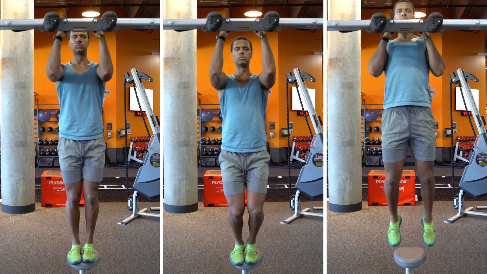 how to do a pull up negative set up