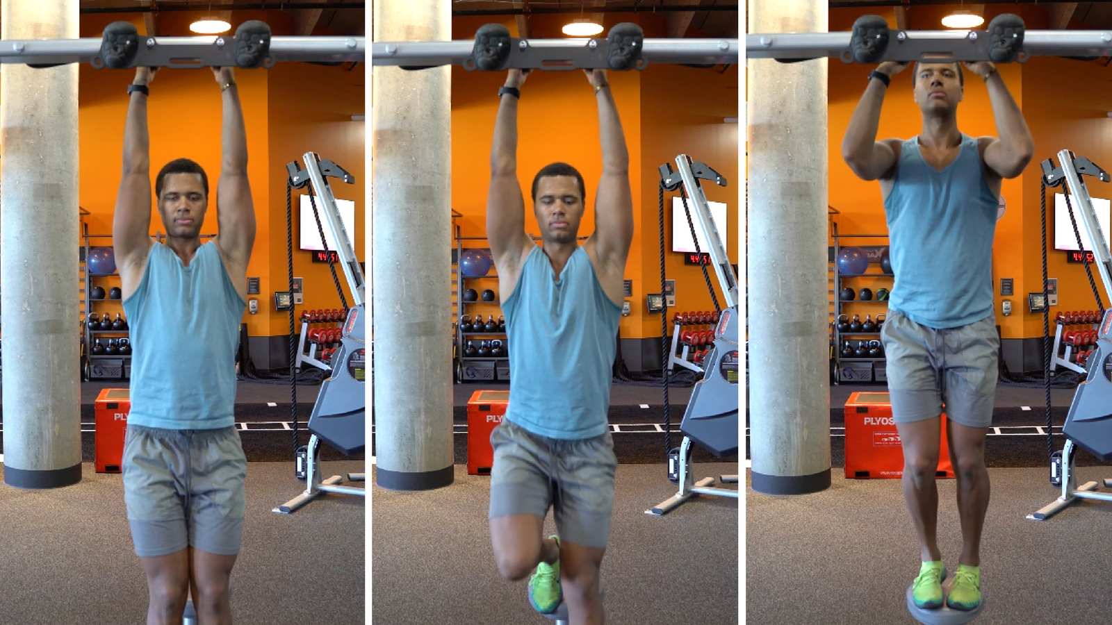 how to do a pull up negative