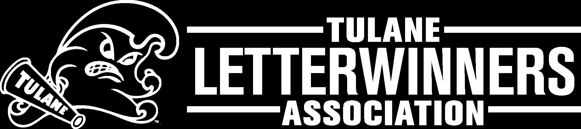 White Tulane Letterwinner Association Logo.png