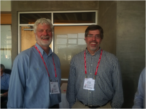 Figure 6: John Ebell, GC member and Steve Grasby, GC VP, enjoy the early evening event and the opportunity to network.