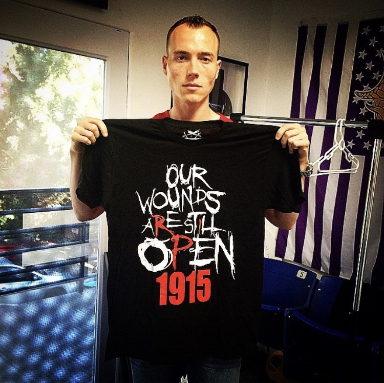 OPEN WOUNDS 1915 OUR WOUNDS ARE STILL OPEN 1915 JOIN THE MOVEMENT CELEBRITY ARMENIAN GENOCIDE