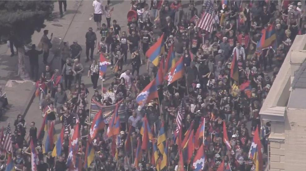 UNITED WE MARCH - Angelenos Rally for Recognition of the Armenian Genocide on its 103rd Anniversary.