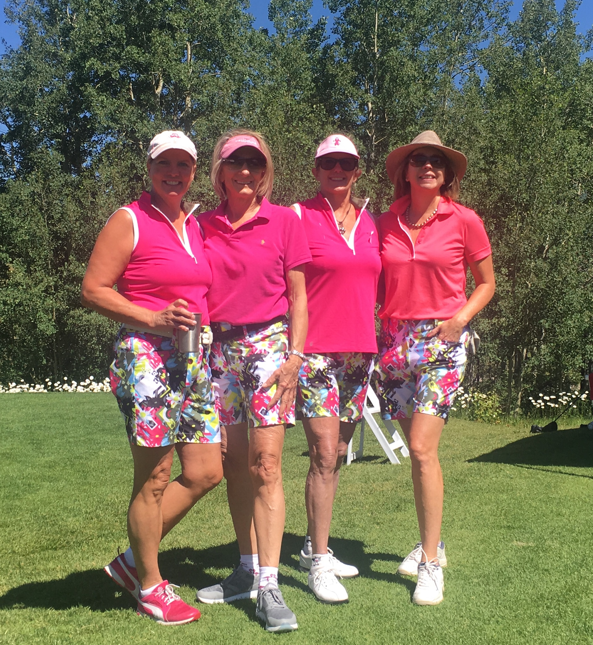 From right to left, Victoria Hutson; Pam Guillory; Andi Alexander; Peggy Raible.