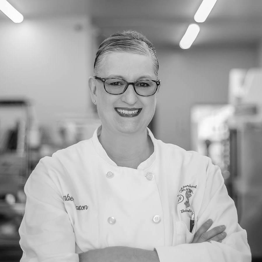Meet the baker in black & white. Miss Amber Tipton.