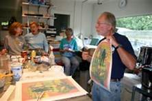 Mitch Lyons d.March 5,2018. Here he is teaching his unique clayprinting method