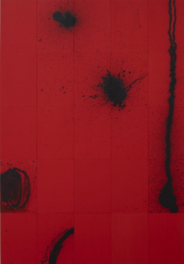 ZIP, ZERO, ZILCH  1995 Synthetic polymer paint, oil, wax on hardboard Overall 205.0 x 142.5 cm  (41 x 28.5 cm per panel)