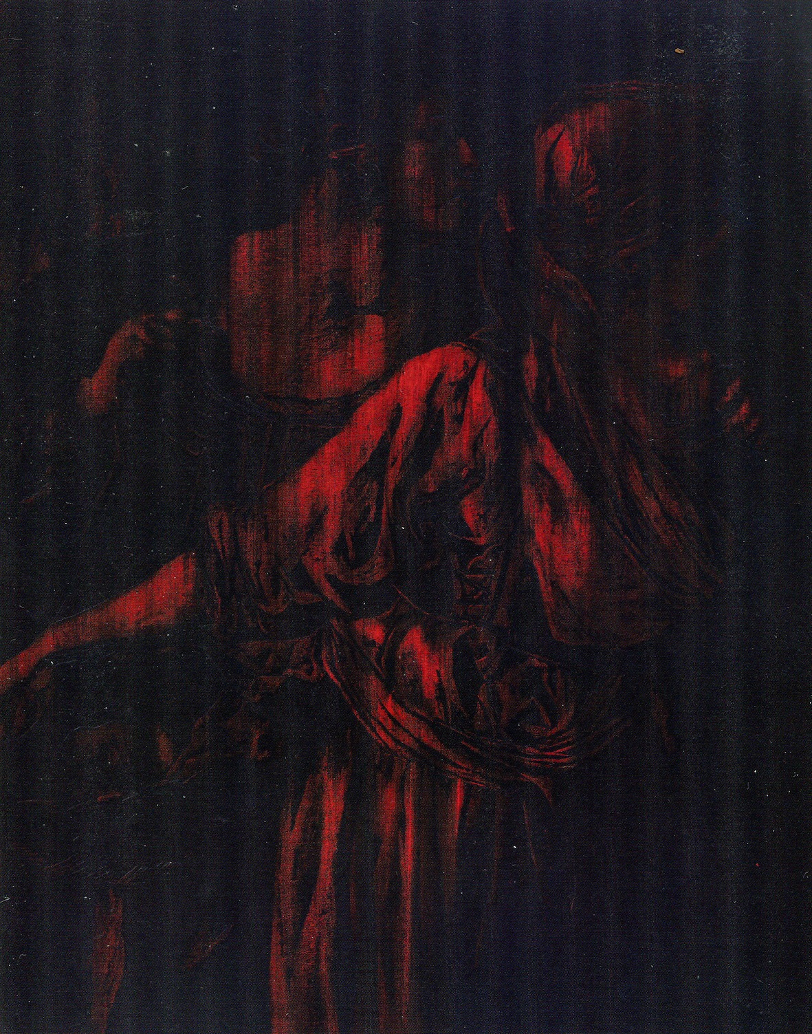 VIRTUE, MORAL ORDER AND THE DISCRETION OF HUMAN GESTURE  1991 Oil and wax on canvas 191.0 x 151.5 cm
