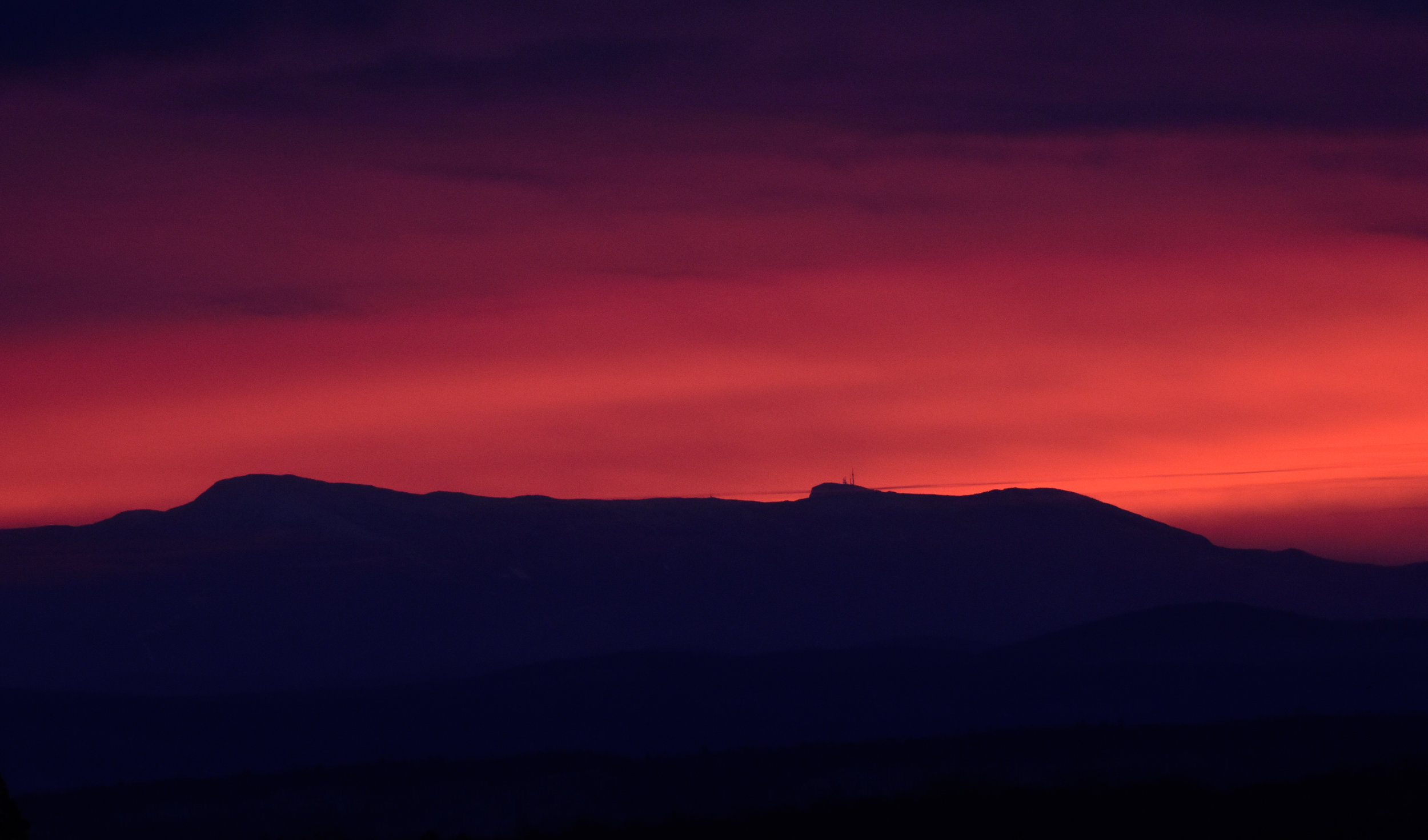 Pink Sunrise over Mount Mansfield