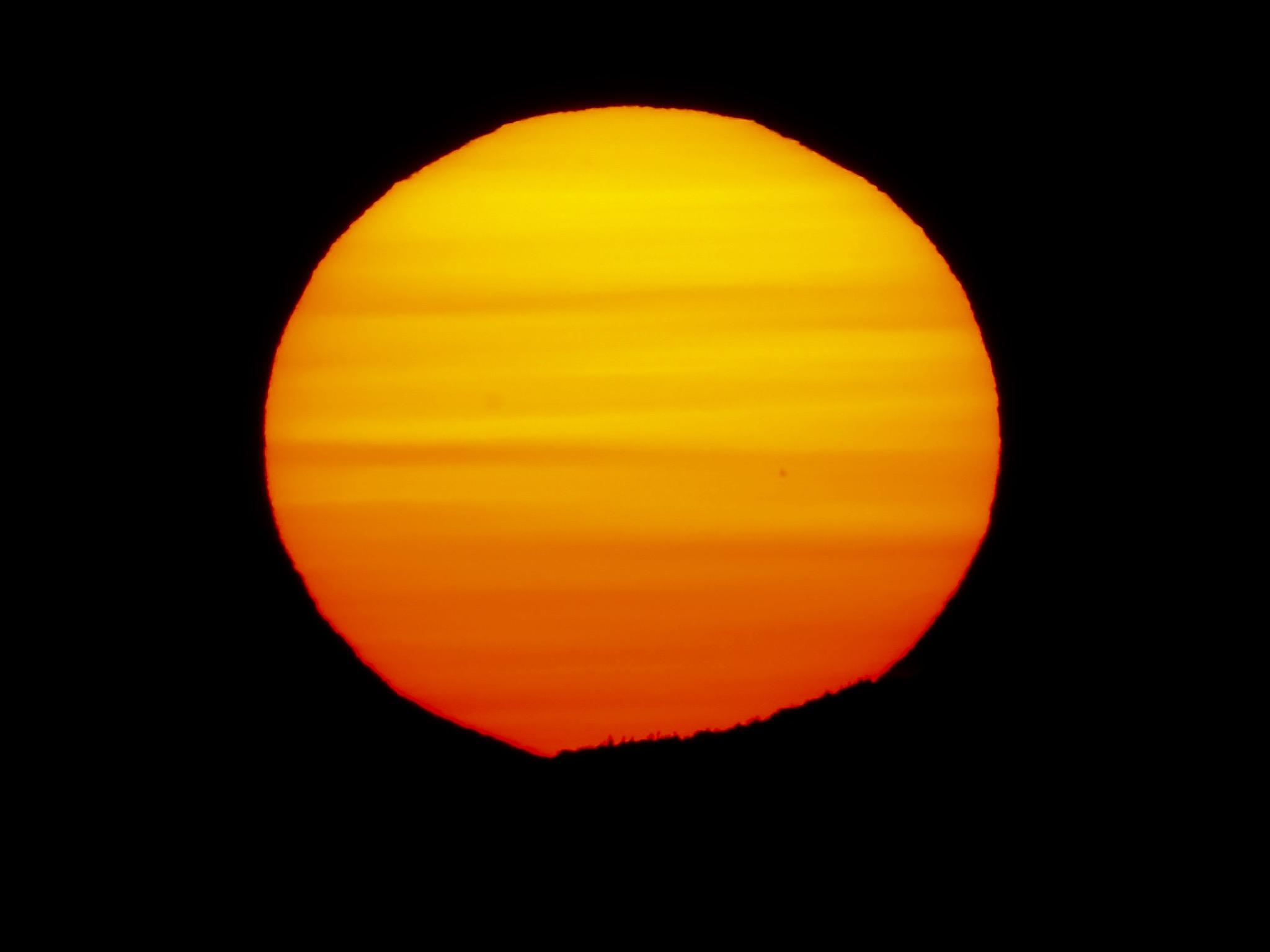 Large Sun at Sunrise