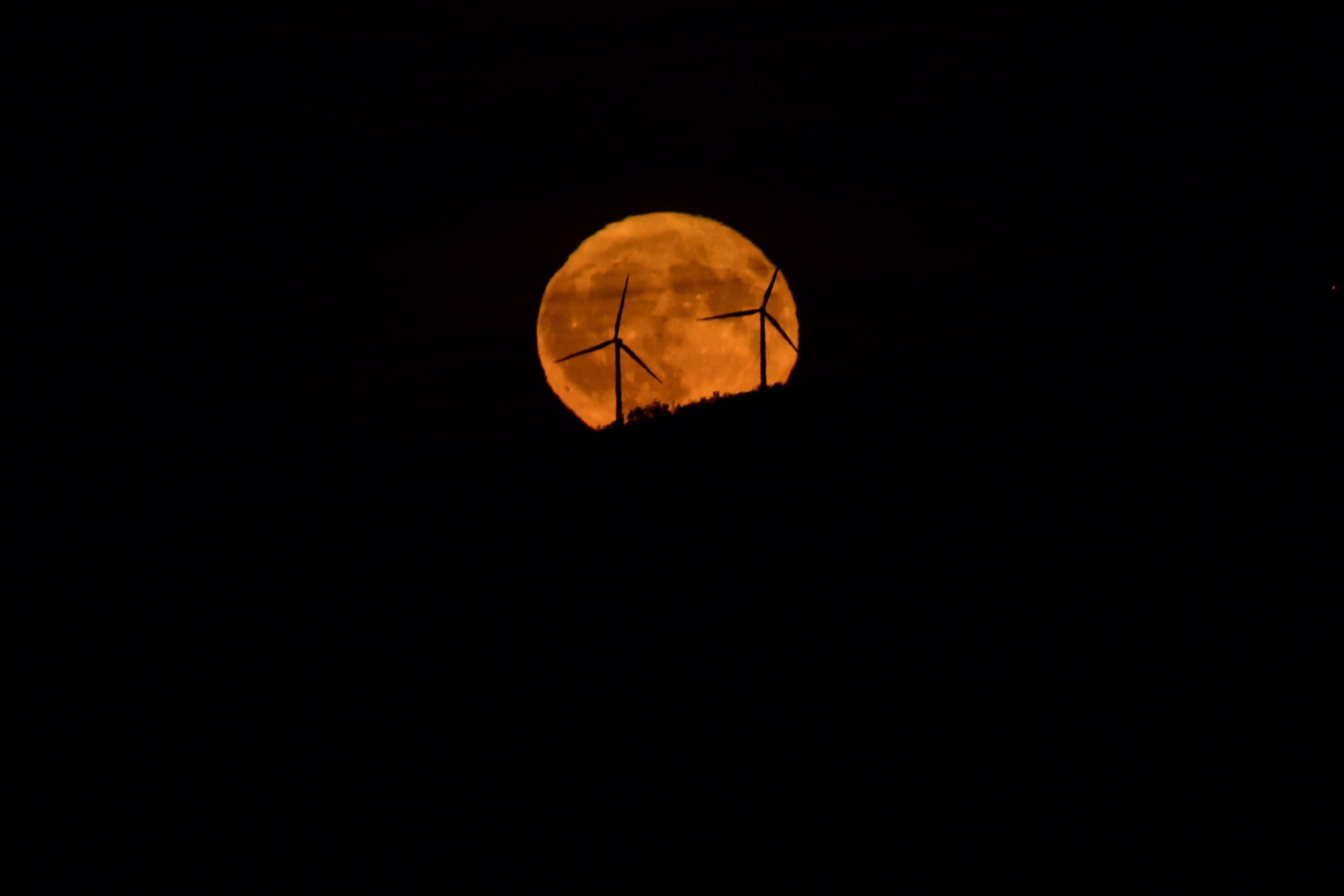Wind Turbines at Moonrise_2