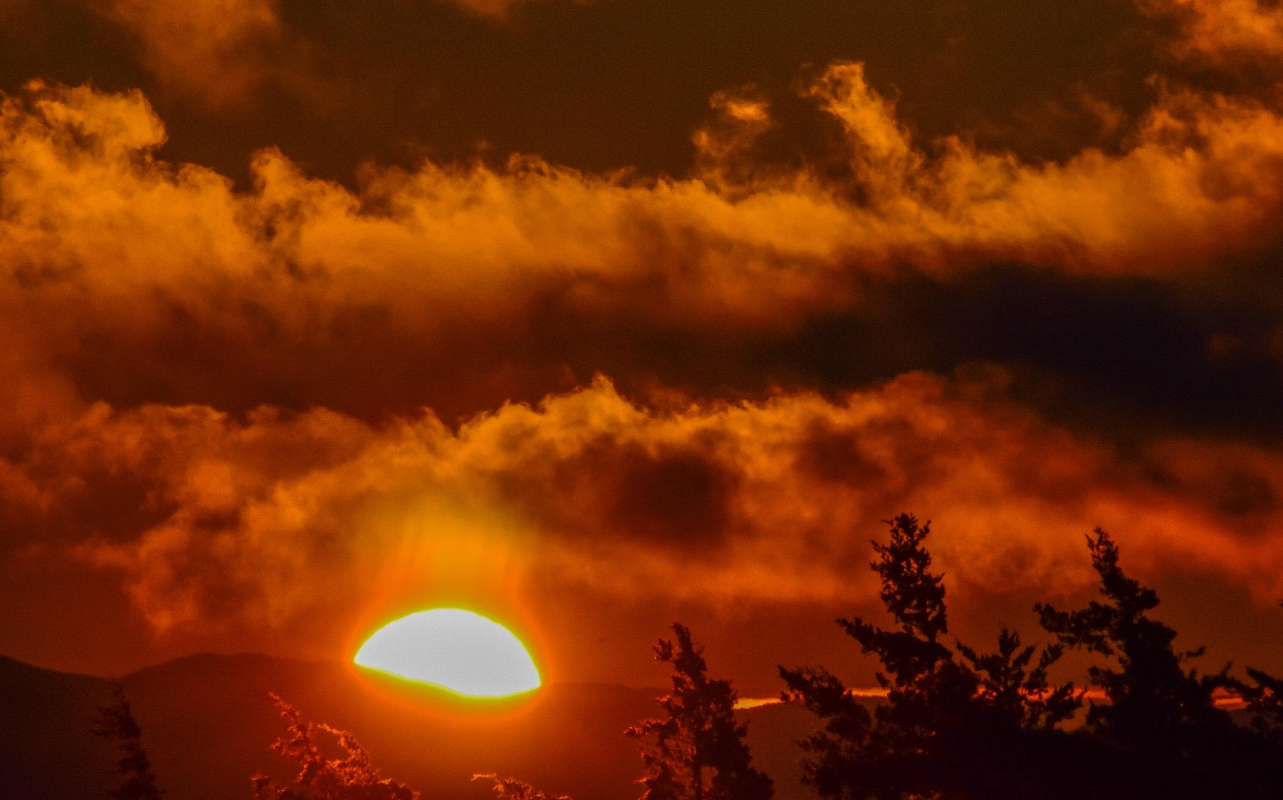 Orange Sunrise with Clouds