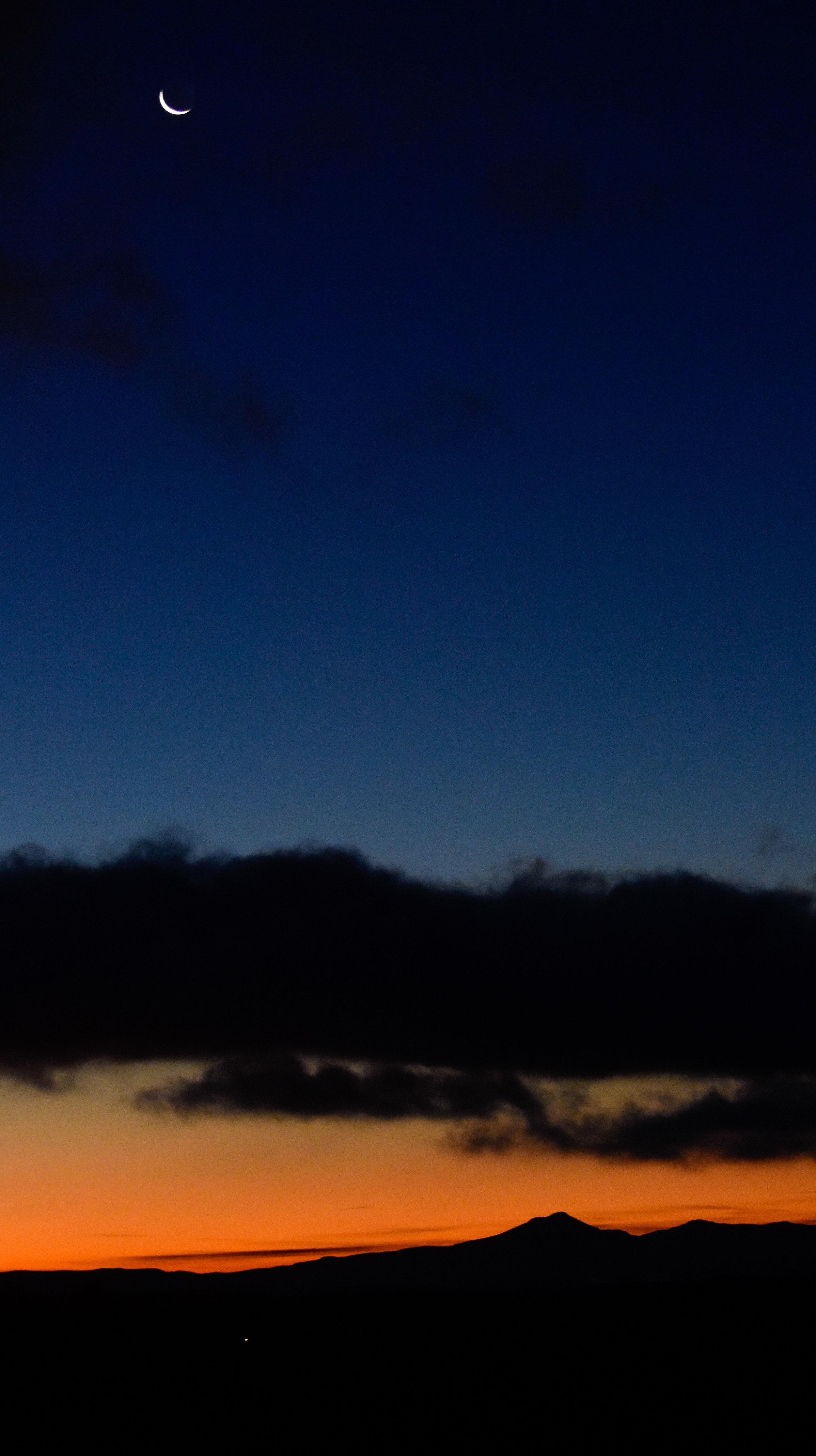 Crescent Moon over Camel's Hump