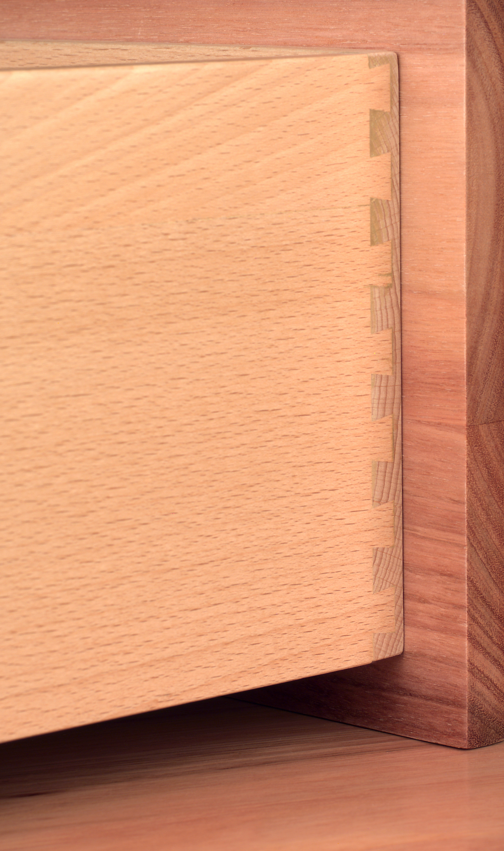 Detail Image of Dovetailed Beech Drawer.