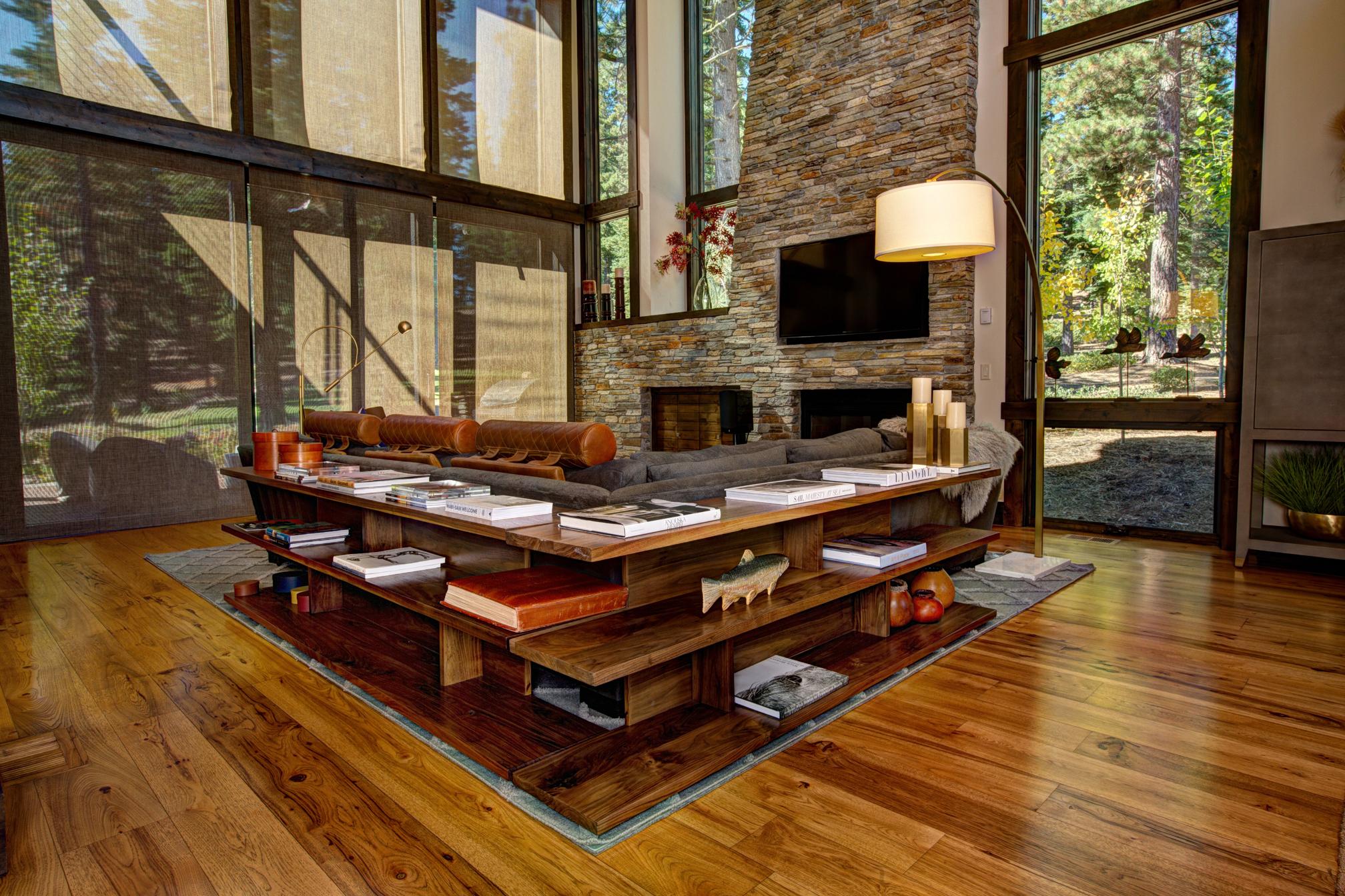8' x 7' Dual Sofa Tables. Solid Walnut.