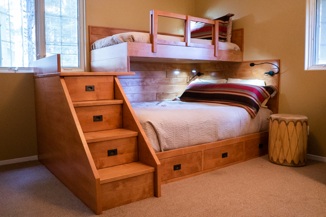 Twin Combination Bunk Set with Drawers. Alder.