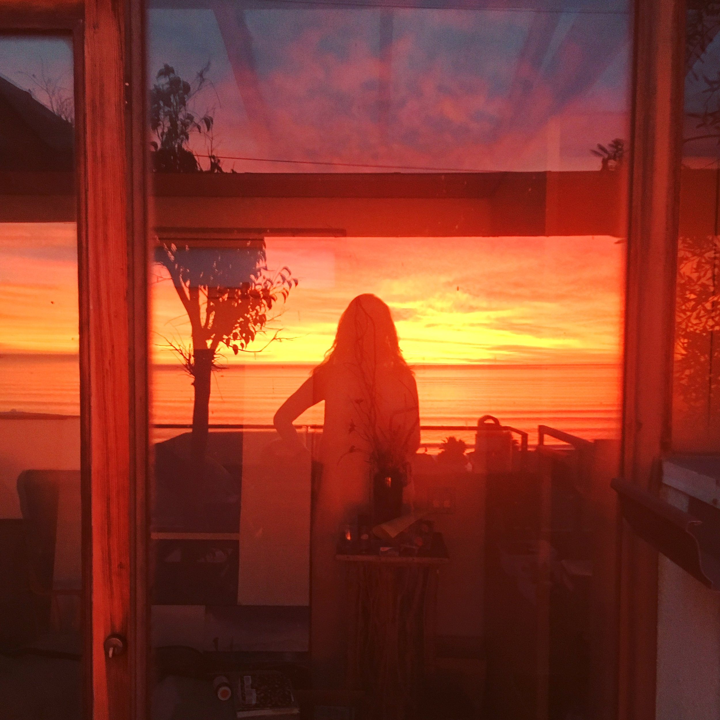 Sunset self portrait.JPG