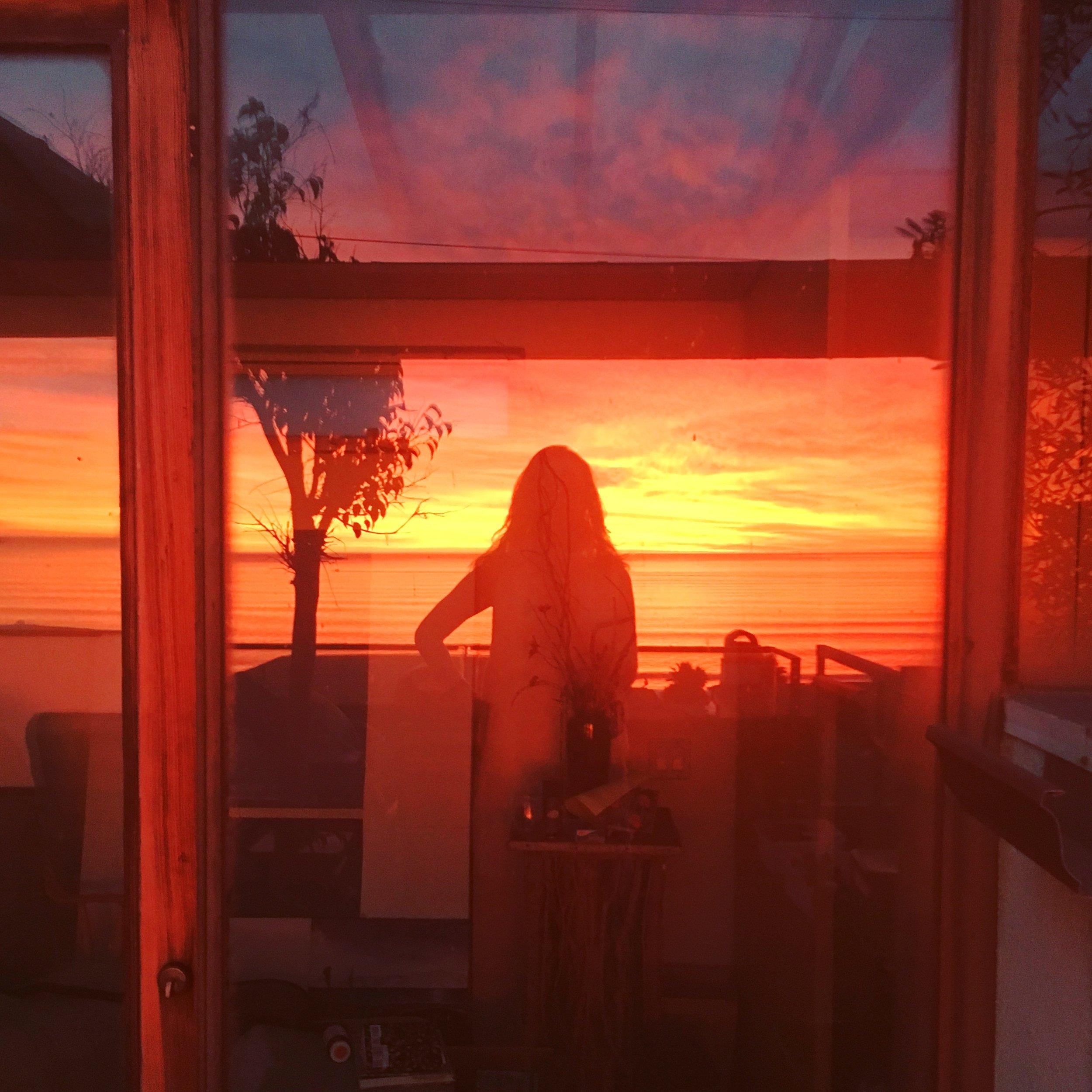 Sunset self portrait.JPG
