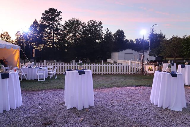 Having a unique outdoor wedding? We can design a lighting package that will be functional and look amazing!