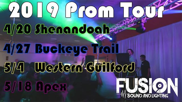 Our PROM tour kicks off in less then 2 weeks!!! HYPE VIDEOS start dropping this week!
