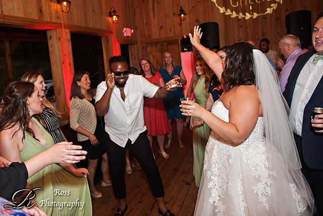 Bringing the party. One wedding at a time!! Photographer: @ross_photography  Venue: @friendsfarm  #weddingdj #northcarolina #greensboro #ralieghwedding #ralieghnc