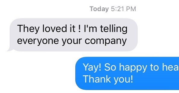 We love getting these kinds of text messages. Our video played to a packed convention of lawyers in Las Vegas, and they loved it! #131Media #caala #consumerattorneys