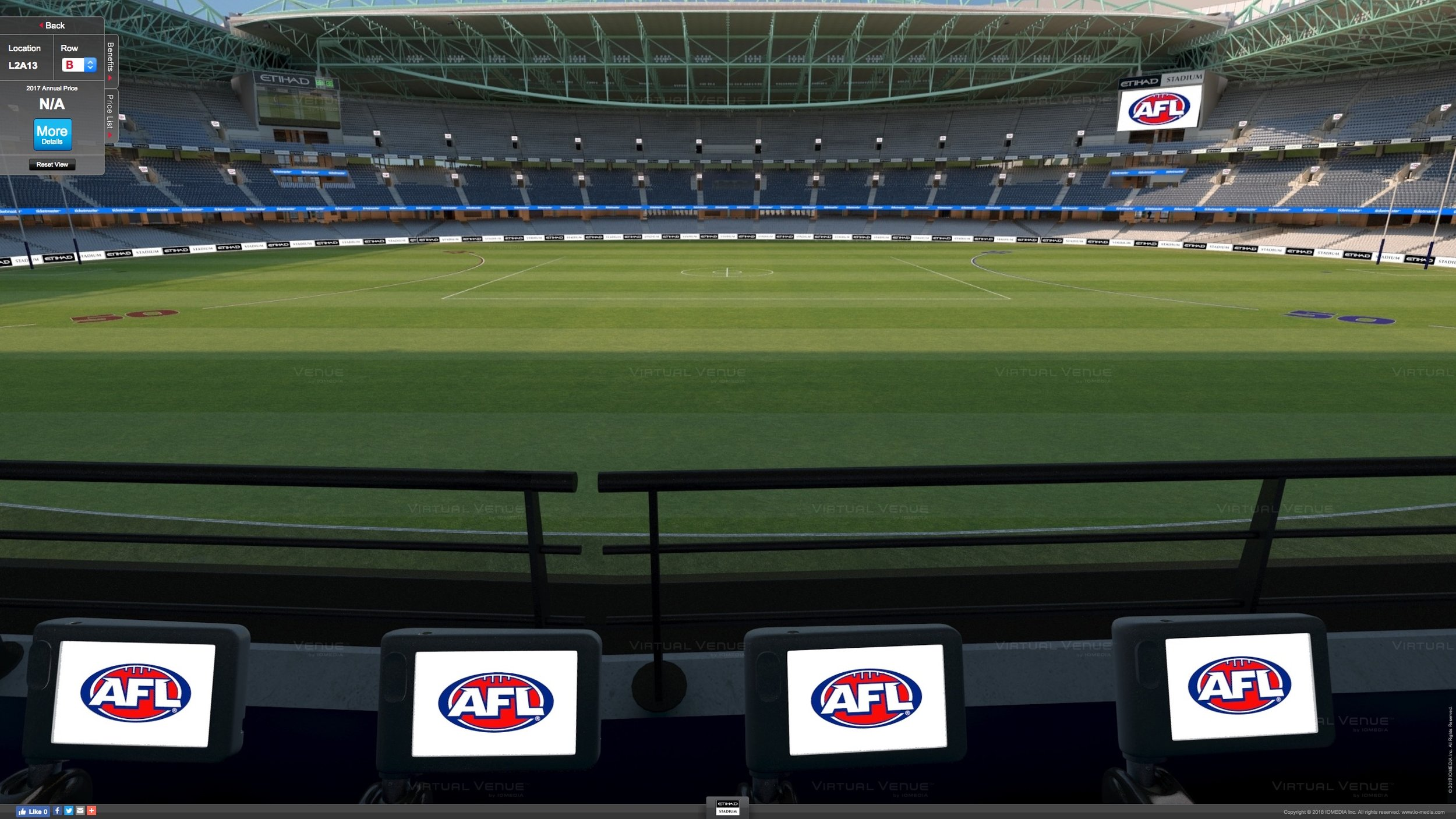 Essendon v Western Bulldogs Marvel Stadium Level 2 AFL tickets
