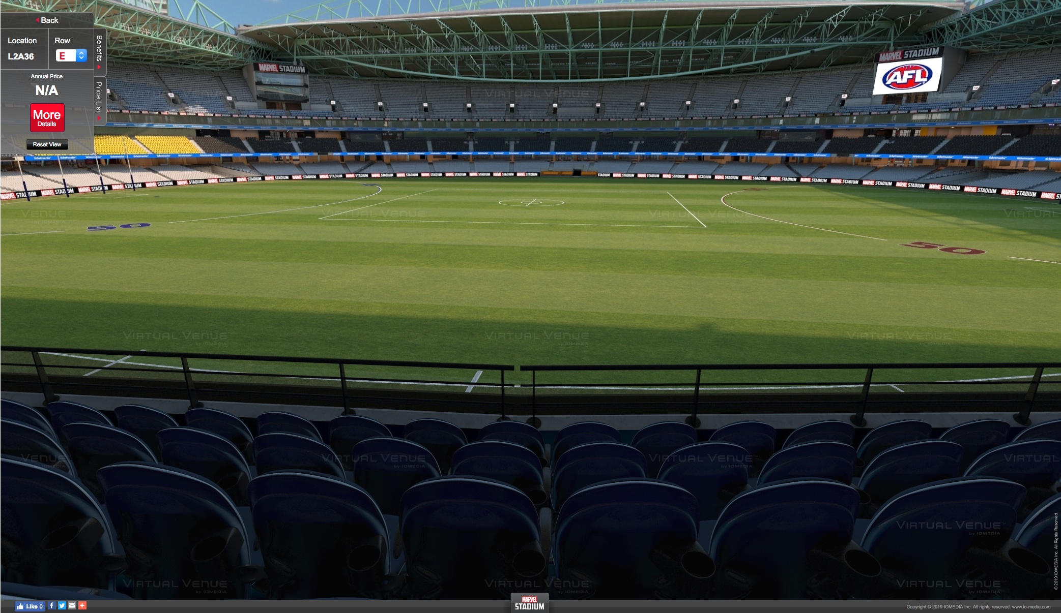 Carlton v Western Bulldogs Marvel Stadium Centre Wing AFL tickets